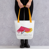 Doesn't Cuddle Fish Tote bag