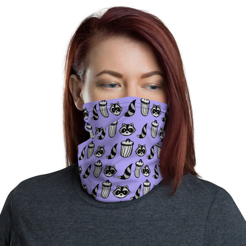 Raccoon Pattern Mask/Neck Gaiter