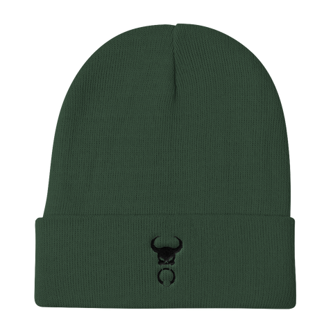 Black Door Knocker Embroidered Beanie, [product_type] - Team Manticore