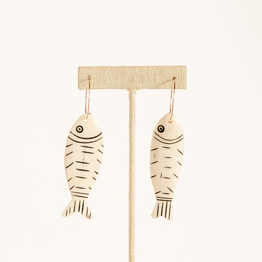 Fish Hoop Earrings