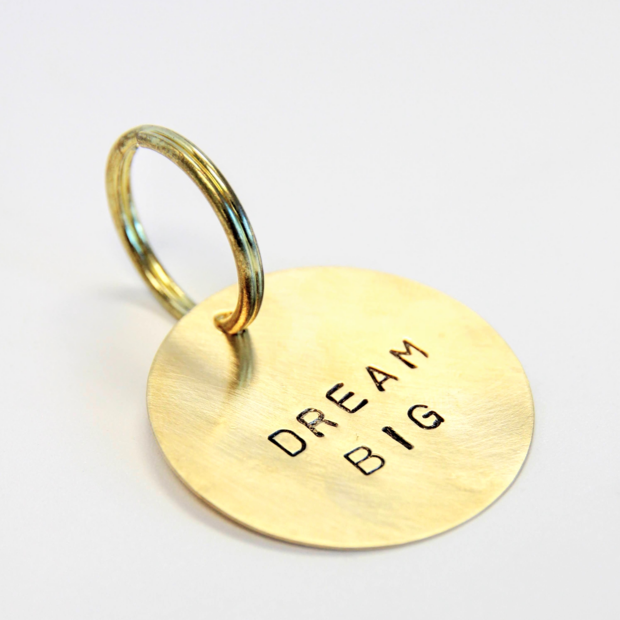Hand Stamped Custom Key Ring