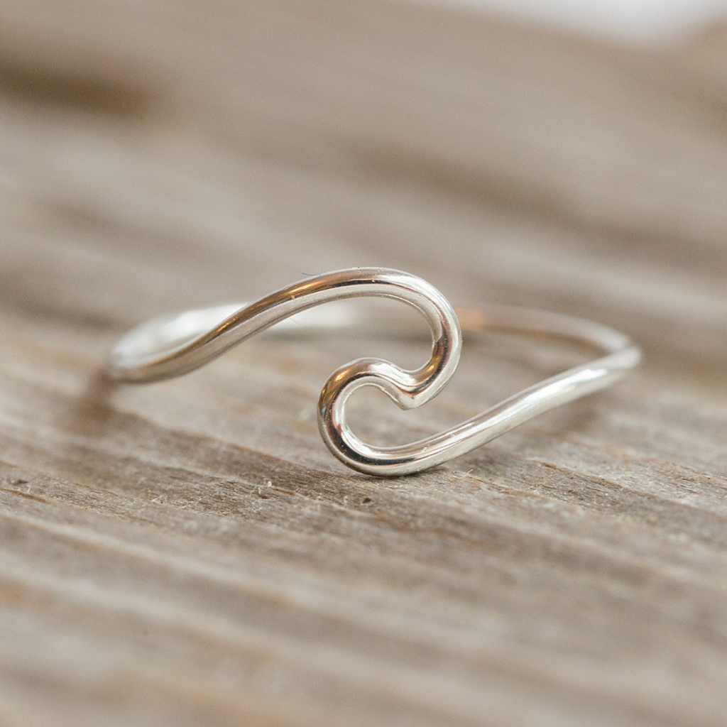Silver or Gold Wave Ring
