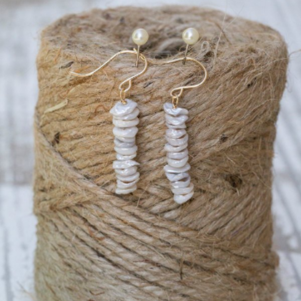 Keishe Pearls Stacked Earrings