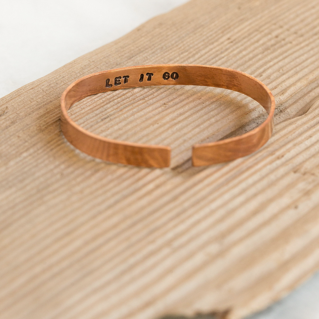 Custom Thin Copper Cuff Bracelet