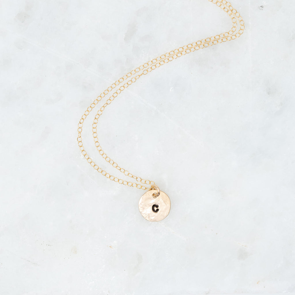 Teeny Tiny Initial Necklace