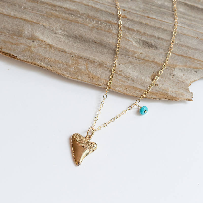 Bronze or Silver Shark Tooth Necklace