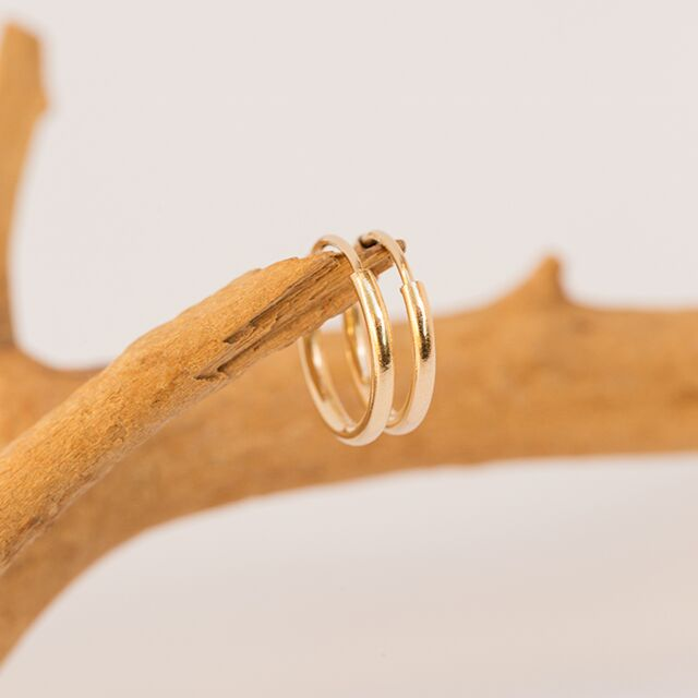 Gold-Filled Everyday Hoop Earrings