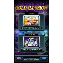 Load image into Gallery viewer, Gold Illusion 1 by Trestle – Vertical Game