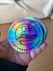 DirtWorks Ceramics Holographic Sticker