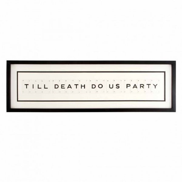 Large TILL DEATH DO US PARTY Vintage Playing Card Frame