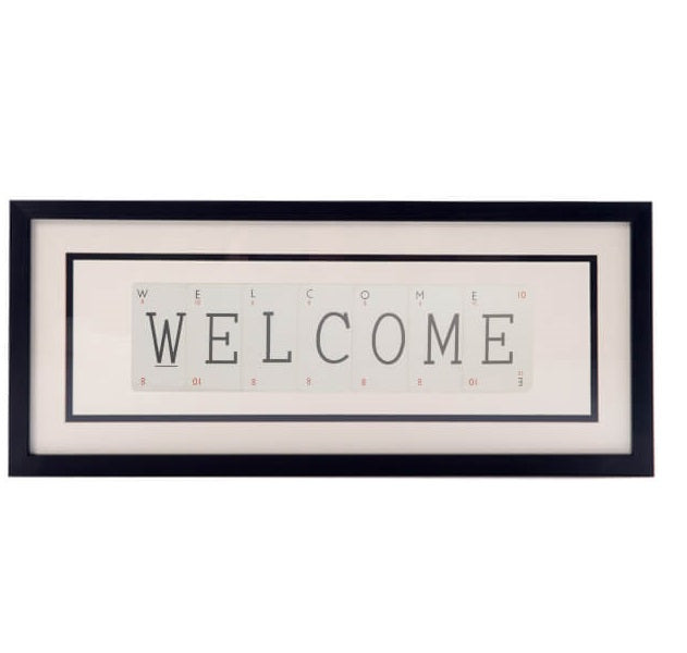 Medium WELCOME Vintage Playing Card Frame