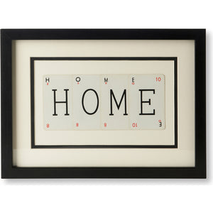 Small HOME Playing Card Frame