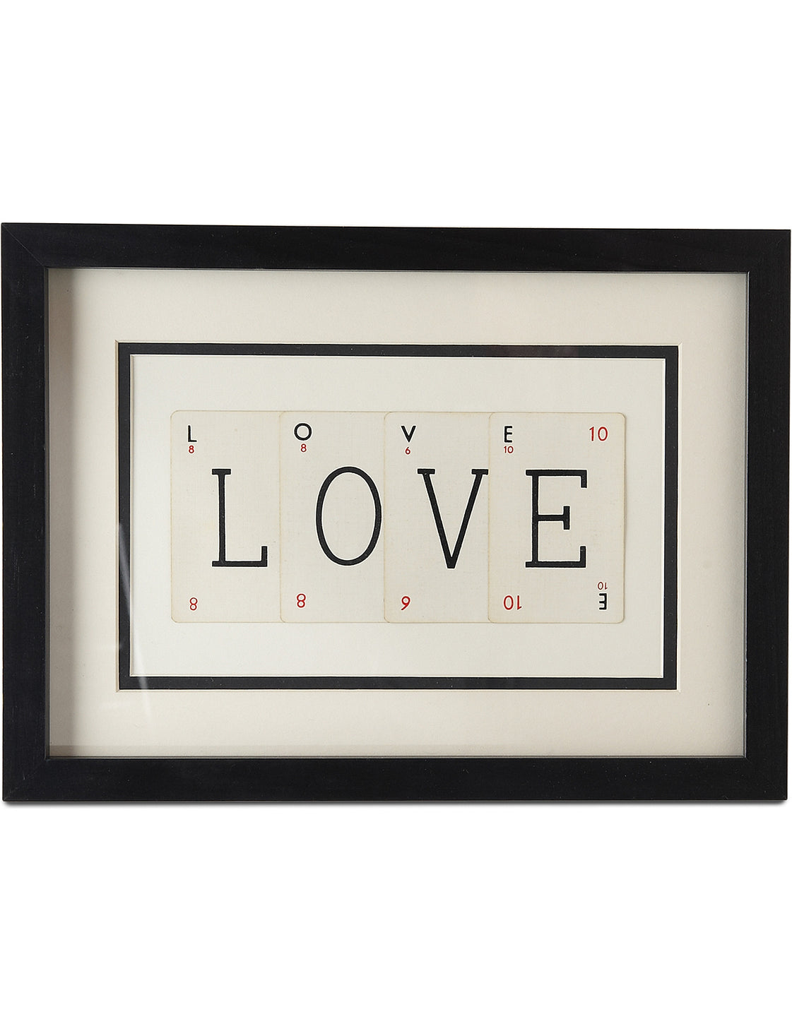 Small LOVE Playing Card Frame