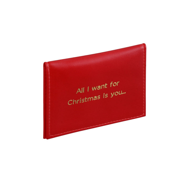 All I Want For Christmas is You Travel Card Holder