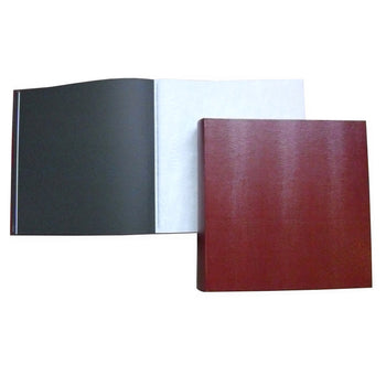Jubilee Black Paged Interleaved Square Photo Album