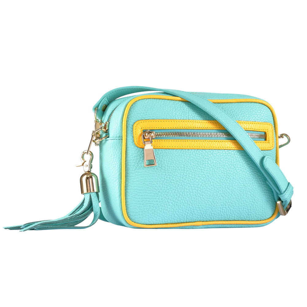Blue & Yellow Cross Body Bag
