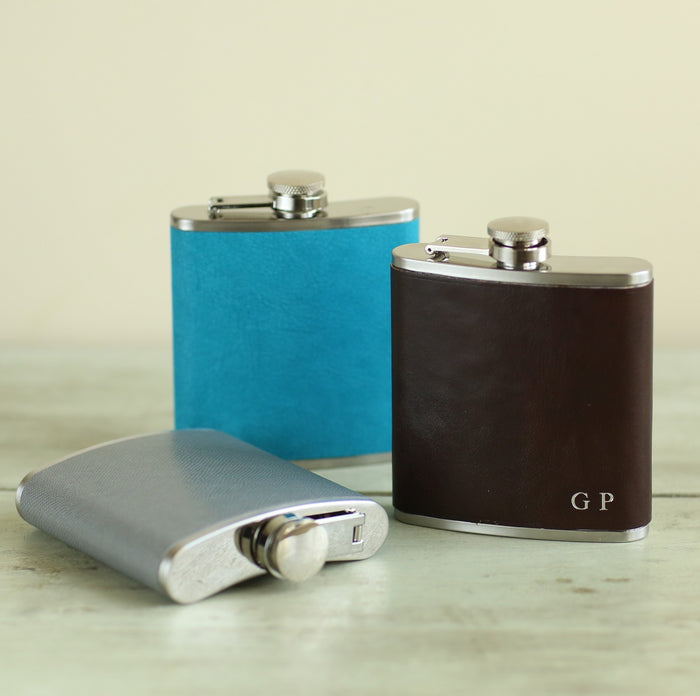 Bondi Blue Hip Flask