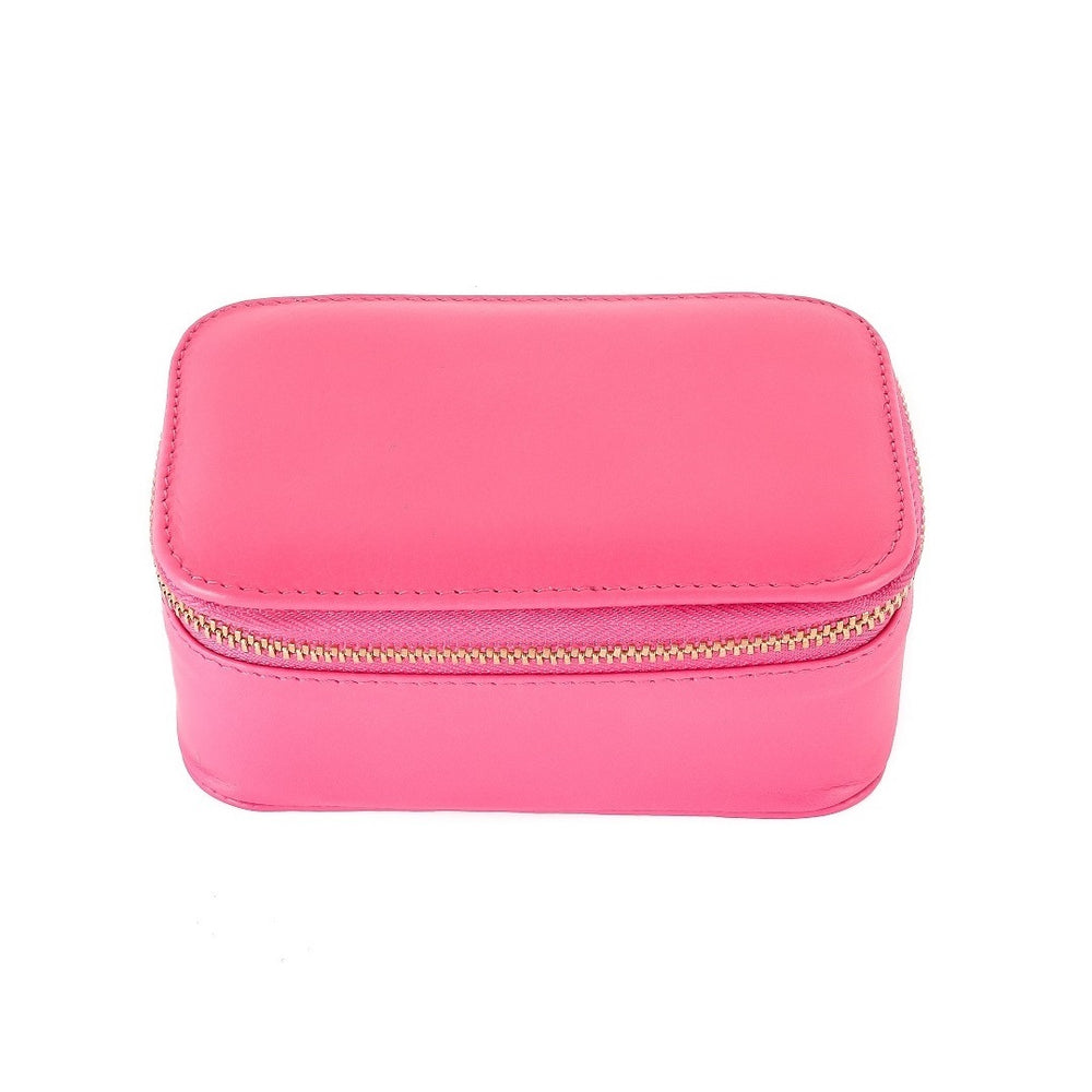 Chelsea Zipped Travel Jewellery Box in Fuchsia