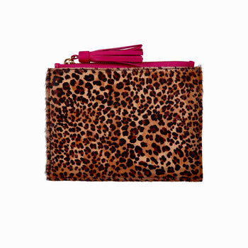 Regency Tassel Pouch in Cheetah