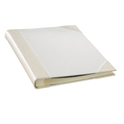 Ivory Leather & Linen Scrapbook