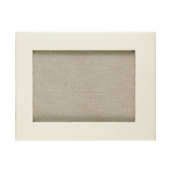 Ivory Landscape Leather Frame 10x8