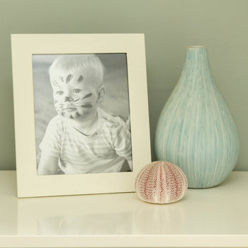 Ivory Portrait Leather Frame 7x5