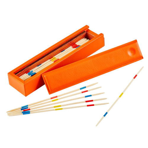 Luxury Leather Pick Up Sticks Tangerine