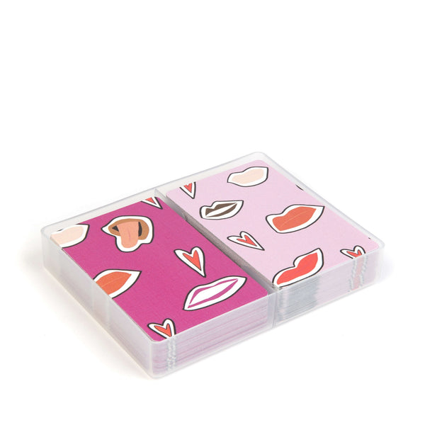 Jakki Doodles Cards Set - Pink lips
