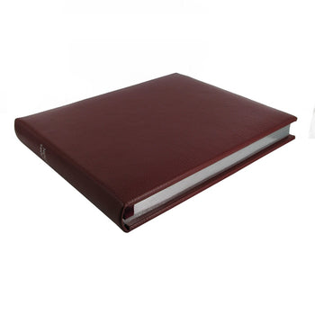 Marlborough Lined Landscape Leather Visitors Book