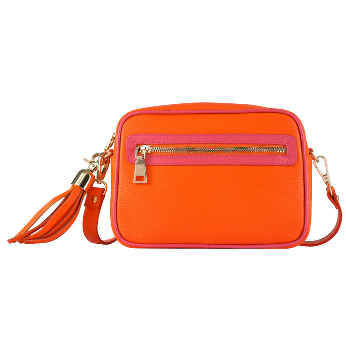 Pink & Orange Cross Body Bag