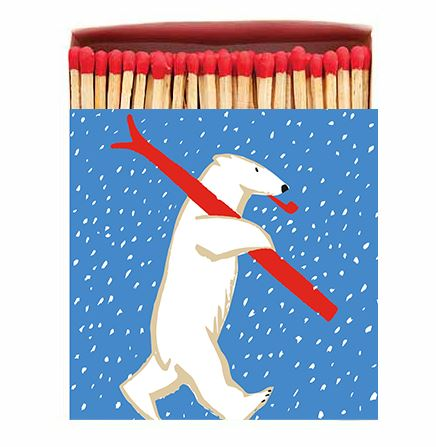 Skiing Polar Bear Matchbox