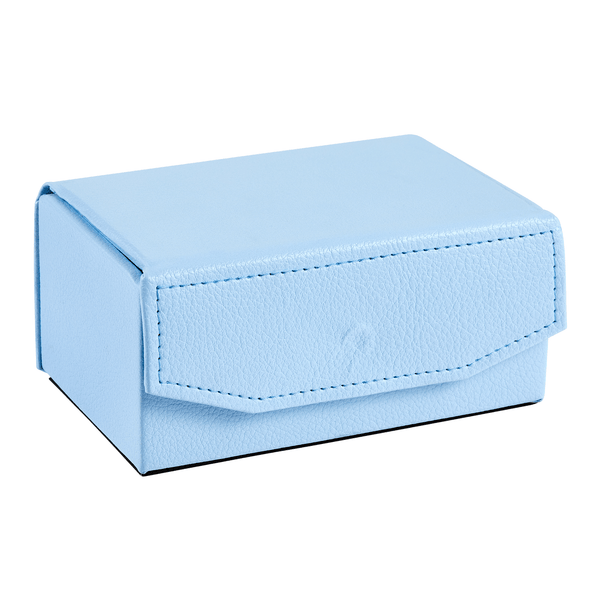 Small Leather Matchbox Duck Egg Blue
