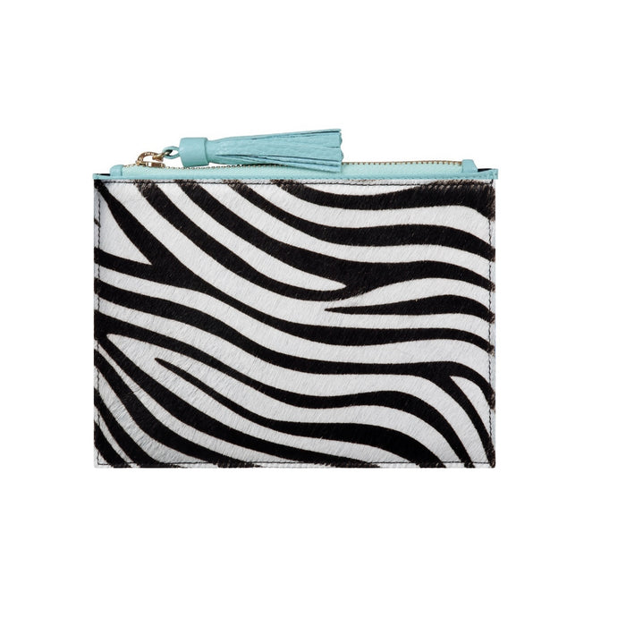 Regency Tassel Pouch in Zebra