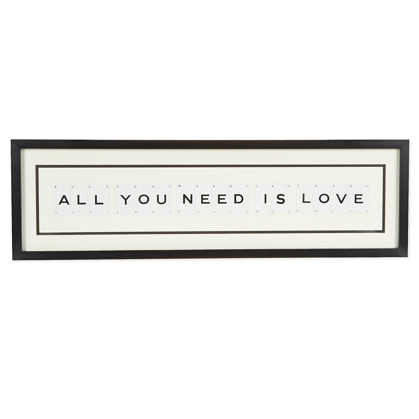 Large ALL YOU NEED IS LOVE Vintage Playing Card Frame