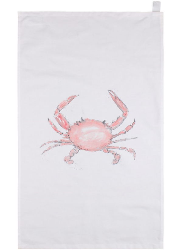 Crab Tea Towel by Eleanor Brooke