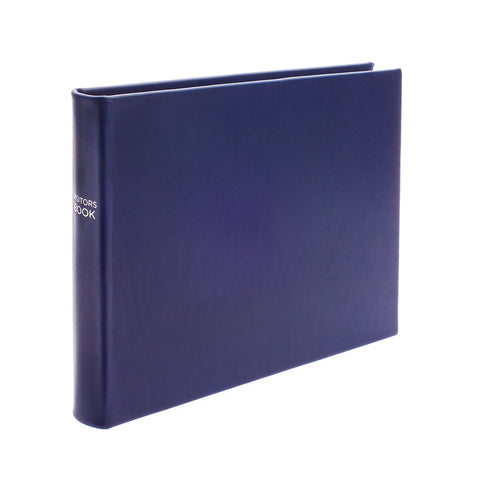 Chelsea Lined Landscape Leather Visitors Book