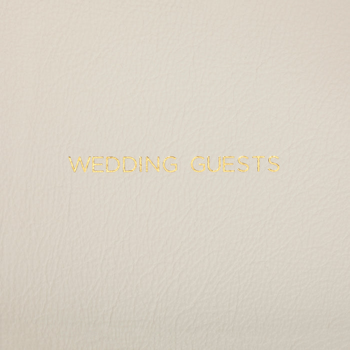 Ivory Landscape Leather Wedding Guest Book