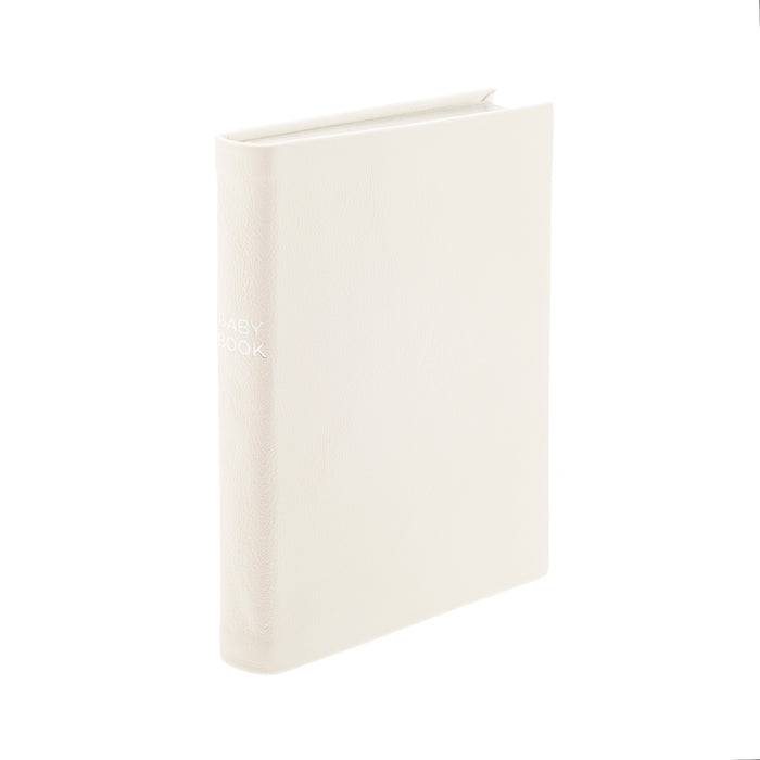 Ivory Portrait Leather Baby Book