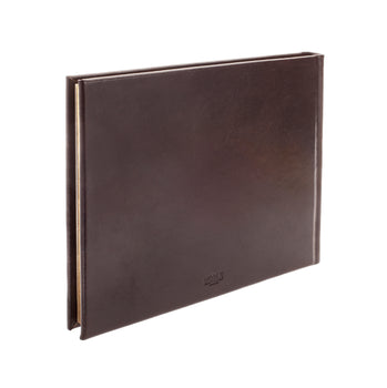 Safari Large Leather Lined Visitors Book