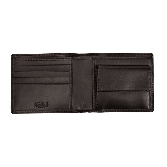 Black Calf Leather Coin Purse Wallet