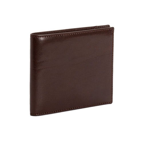Mocha Brown Calf Leather Coin Purse Wallet