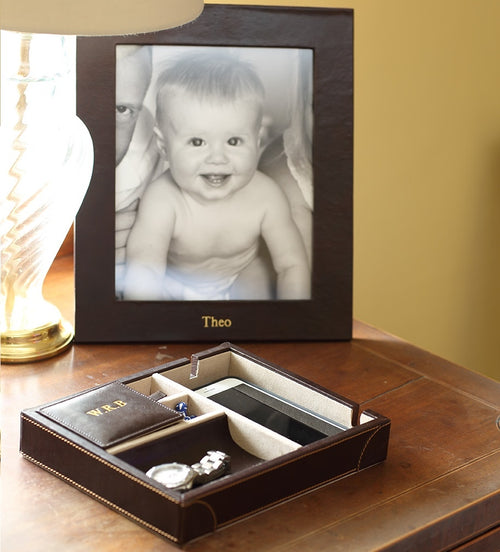 Chelsea Portrait Leather Photo Frame 8x6