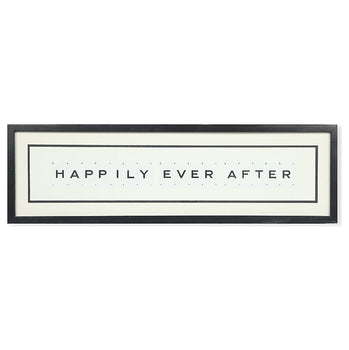 Large HAPPILY EVER AFTER Vintage Playing Card Frame