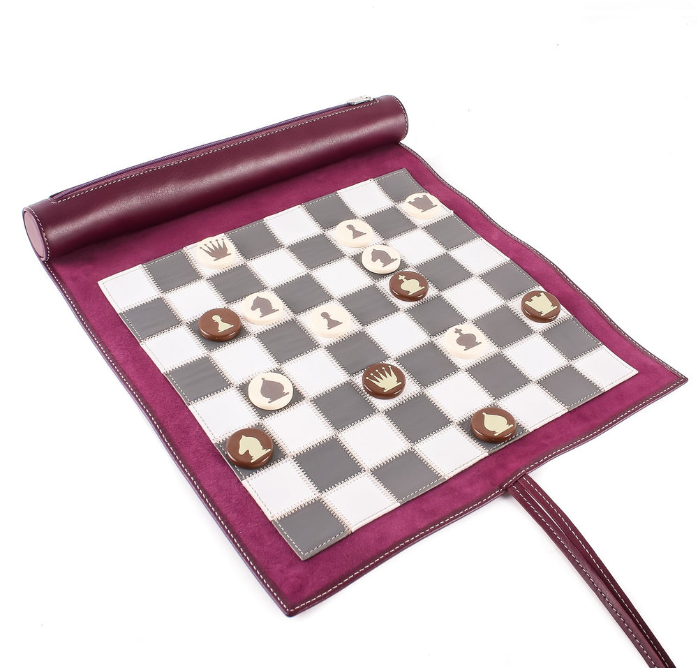 Cyclamen Small Lazy Days Travel Chess Set