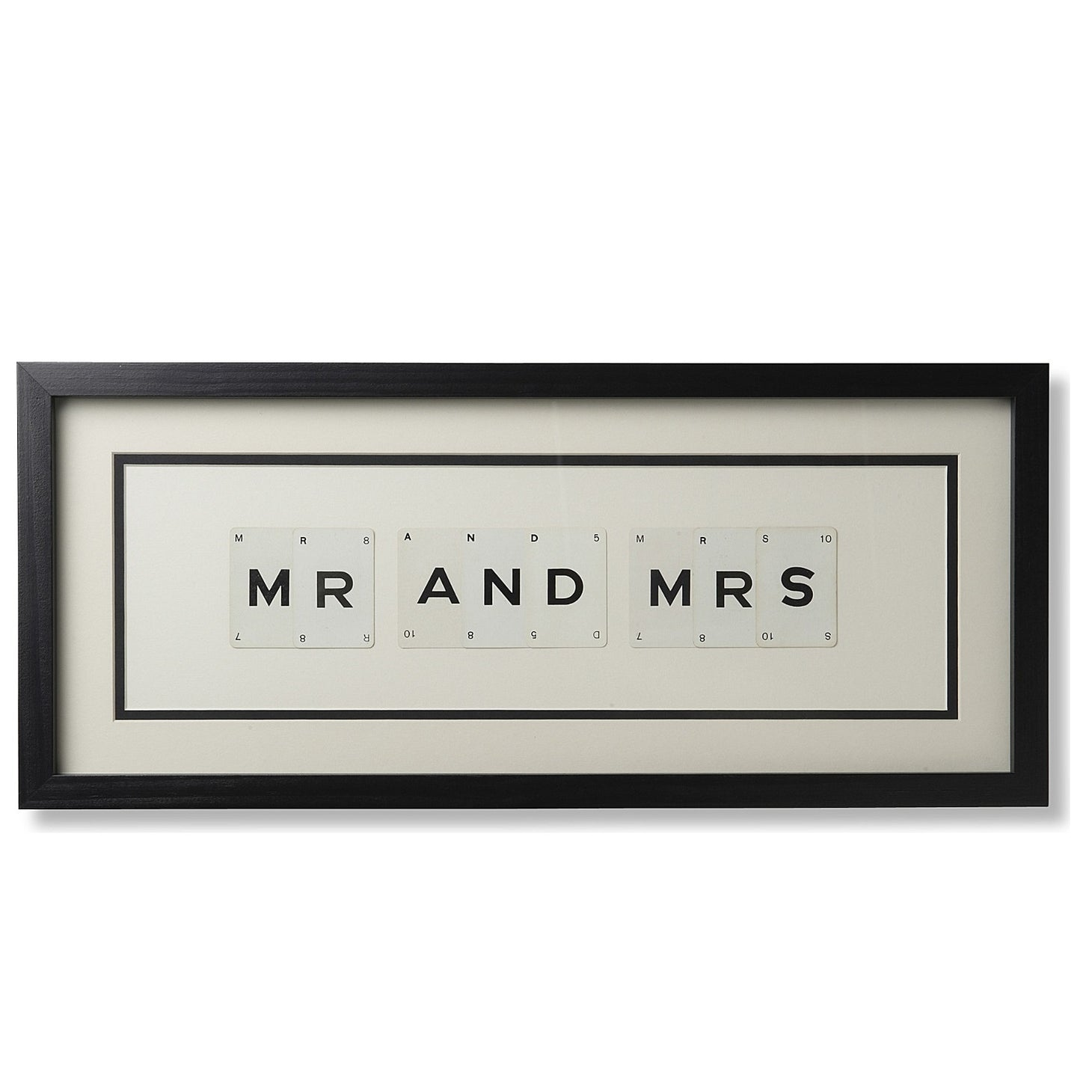 Medium MR & MRS Vintage Playing Card Frame