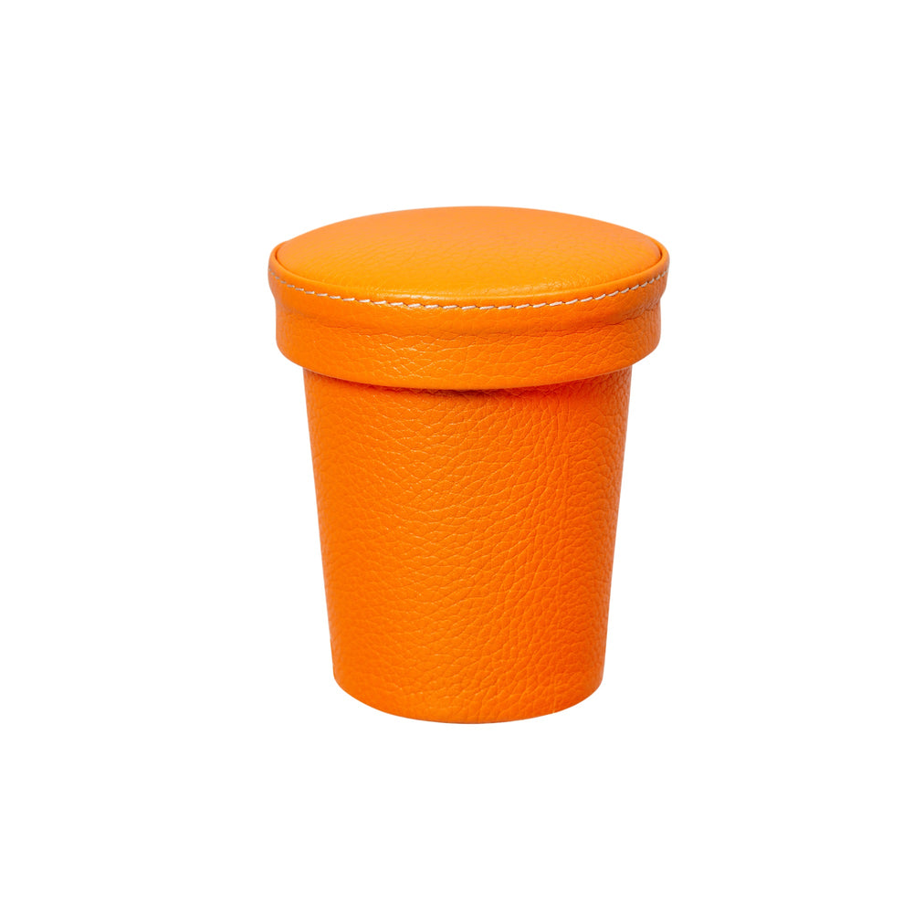 Chelsea Dice Cup in Tangerine