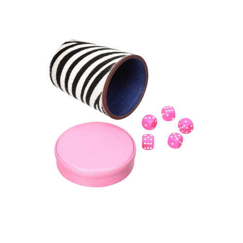 Regency Dice Cup in Zebra Print