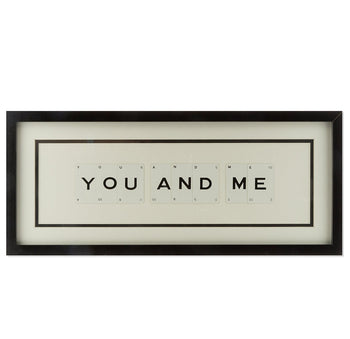 Medium YOU AND ME Vintage Playing Card Frame