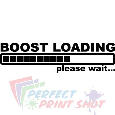 Stiker Turbo boost loading - Please wait