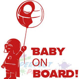 Stiker Baby on board - baiat